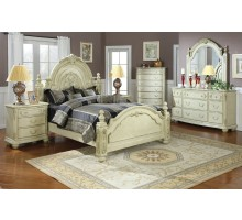 Poster Bedroom Set w/ Short Posts and Arched Headboard Beds | Xiorex