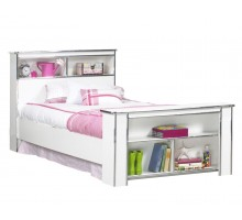 Princes Bookcase Bed Frame in White Life Line Tango Girls Bed | Xiorex