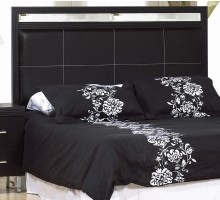 Queen Headboard Black Life Line Phantom Twin Full King & Queen Headboards
