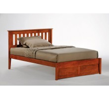 Rosemary Bed Full Size Cherry Slat Headboard Bed | Xiorex Wood Beds