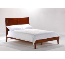 Saffron Solid Wood Bed in Cherry by Night and Day Furniture | Xiorex