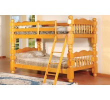 Short Post Bunk Beds for Kids Acubens Bunk Bed Honey Maple | Xiorex
