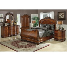 Sleigh Bedroom Set w/ Queen Sleigh Bed and King Sleigh Bed | Xiorex