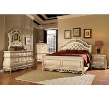 Sleigh Bedroom Set with Leather Headboard | Xiorex