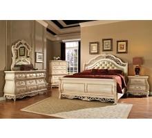 Sleigh Bedroom Set with Leather Headboard | Xiorex