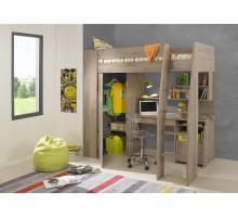 Timber Kids Loft Bunk Beds with Desk Closet | Gautier Gami Furniture