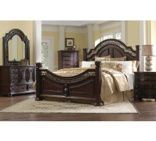 Bedroom Set with Arched Headboard King Bed and Queen Bed | Xiorex