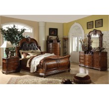 Sleigh Bedroom Set with Sleigh Queen Bed and Sleigh King Bed | Xiorex