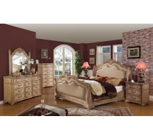 Sleigh Bedroom Set with Leather Headboard and Footboard | Xiorex