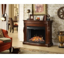Tuscan Indoor Fireplace - Moskuka Mantel w 33 in Full view Firebox
