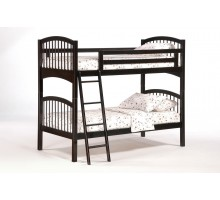 Twin Bunk Bed Dark Chocolate Night&Day Elderberry Twin Twin Bunk | Xiorex
