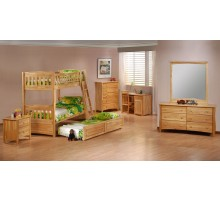 Twin Bunk Bed Set Cinnamon Bunk Bed Suite by Night and Day | Xiorex
