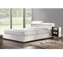 Upholstered Platform Bed Furniture w Storage Headboard & Footboard | Xiorex