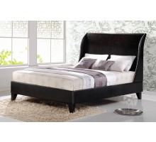 Upholstered Platform Bed Furniture with Curved Headboard | Xiorex
