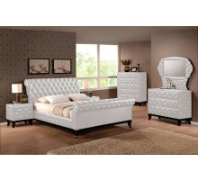 Upholstered Sleigh Platform Bedroom Sets with Sleigh Queen Bed and King Bed | Xiorex