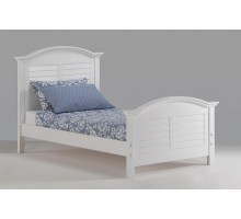 White Bed for Girls Night and Day Sandpiper Bed White Twin Bed | Xiorex