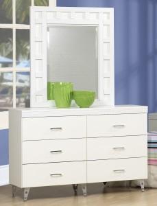White Dresser Set Life Line Priscilla Dresser with Mirror | Xiorex
