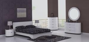 Eri All White Modern Bedroom Furniture Sets Canada | Xiorex
