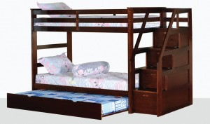 Alcor Twin Over Bunk Bed With Storage Stairs And Trundle