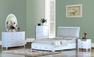 White Modern Platform Bedroom Furniture Set 156 | Xiorex