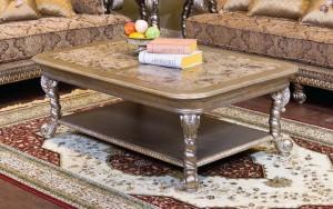 Alya Rectangle Coffee Table Toronto with Bottom Shelf | Xiorex
