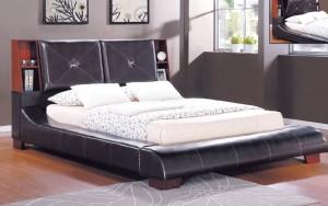 Upholstered Bookcase Panel Platform Bed Furniture 188 | Xiorex
