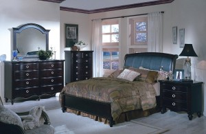 Bedroom Furniture Set with Leather Headboard 130 | Xiorex