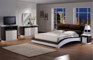 Chic Upholstered Platform Bedroom Furniture Set 155 | Xiorex