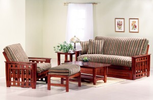 Night and Day Twilight Futon Black Walnut & Cherry | Xiorex
