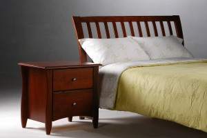 Curved Headboard Bed Night and Day Nutmeg Bed with Curved Headboard