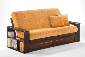 Princeton Futon Night and Day Princeton Futon Bookcase Arm | Xiorex