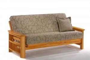 Night and Day Portofino Futon Sofabed Honey Oak Natural Rosewood Teak