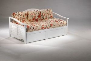 Seagull Daybed Twin Size White Day Bed with Trundle Bed | Xiorex