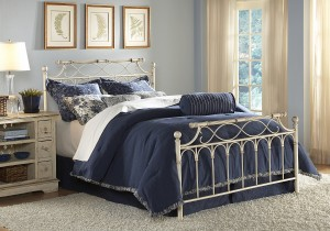 Chester Bed Ornamental Bed w Creme Brulee Finish by Fashion Bed Group