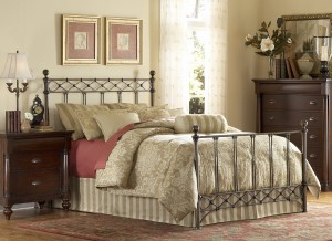 Argyle Metal Bed Copper Chrome Bed by Fashion Bed Group | Xiorex