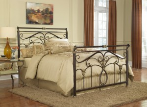 Lucinda Bed Luxury Bed in Marbled Russet Finish by Fashion Bed Group