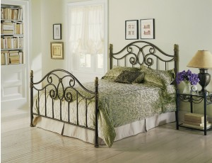 Dynasty Bed Poster Bed in Autumn Brown Finish by Fashion Bed Group