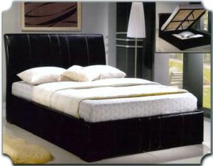 Platform Bed Furniture with Curved Headboard 184 | Xiorex