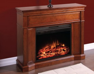 Monaghan Electric Fireplace Mantel w Firebox by Greenway | Xiorex