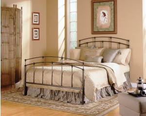 Fenton Bed Black Walnut Finish Metal Bed by Fashion Bed Group | Xiorex