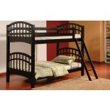 Achird Twin Twin Kids Bunk Beds in Black and White | Xiorex