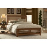 Avery Slat Bed Oak Stain Bed by Fashion Bed Group | Xiorex