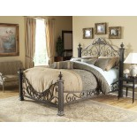 Baroque Bed Poster Bed in Gilded Slate by Fashion Bed Group | Xiorex