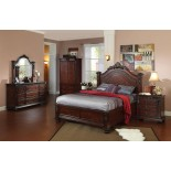 Bedroom Furniture Set 109 w Arched Headboard Queen Bed & King Bed