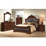 Bedroom Furniture Set with Leather Headboard and Footboard 134 | Xiorex