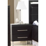 Bedside Tables Life Line Phantom Bedside Tables White & Black | Xiorex