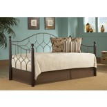 Bianca Daybed Twin Size Day Bed in Espresso/Hammered Pewter | Xiorex
