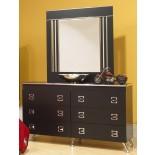 Black Dresser White Dresser Life Line Elvis Dresser & Mirror | Xiorex