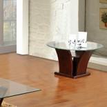Columba Unique Glass Top End Table | Xiorex