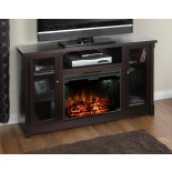 Muskoka Coventry TV Stand Fireplace in Espresso | Xiorex